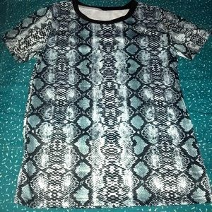 Casual Short Sleeve Shirt Leopard Tunic Small NWOT